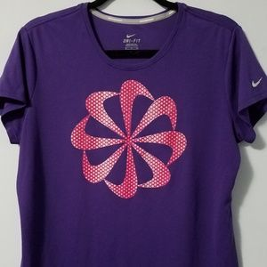 Awesome Nike purple running/cycling top, XL